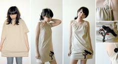 Customizando camisetas e transformando em vestidos