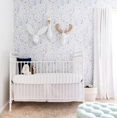Woodland Trees removable wallpaper / Nursery wallpaper / | Etsy