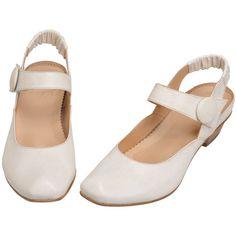 2011限定カラーミルク★リアルミドルロディ ❤ liked on Polyvore featuring shoes, flats, zapatos, women, flat shoes, flat pumps and flat heel shoes