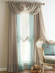New 4 Panels Elegance Sheer Voile Curtains With 3 Scrafs | Bedroom Furniture | Pinterest | Ideas, Curtain ideas and Coffee