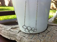 Leaf Drops Silver Necklace Wedding jewelry by MiaCocoDesigns, $21.00