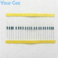 100 unids 1/4 W Resistor de Película Metálica 220 ohm 220R 1% Tolerancia de Precisión RoHS Sin Plomo En Stock