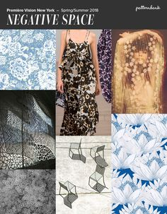 Première Vision New York - S/S 2018 Inverted Silhouettes / Simplified Florals / Tone on Tone / Non-solid Solids / Open Lace