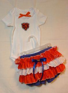 NFL Chicago Bears Boutique Onsie Bloomer outfit by SedonaStyle, $32.00