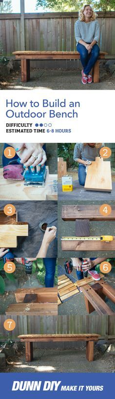 Looking for an easy summer project. Add a personal touch to your backyard with this lovely DIY Bench. It's simple, sleek, and sturdy!