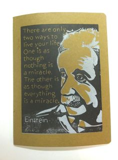 EXTRA LARGE JOURNAL  Albert Einstein Quote by SweetGeePrints, $20.00