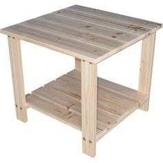 Two Tier Cedar End Table -20in.L x 20in.W x 18 1/8in.H by Northern Tool & Equipment, http://www.amazon.com/dp/B00381TBLC/ref=cm_sw_r_pi_dp_bTEXrb06A00FA