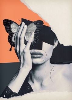 Collage art / butterfly by - art # . - Collage art / butterfly by – # – - Collage Kunst, Art Du Collage, Collage Design, Collage Artists, Art Design, Wall Collage, Art Collages, Collage Portrait, Collage Drawing