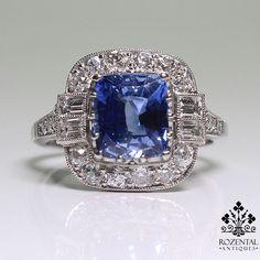 rubies.work/… Antique Art Deco Platinum Diamond                                                                                                                                                                                 More