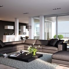 Modern apartment living room design family home idea on living room furniture contemporary design superb apartment of within inspiration ideas for Living Room Grey, Living Room Carpet, Living Room Modern, Living Room Designs, Living Room Decor, Kitchen Living, Small Living, Fancy Living Rooms, Dining Room