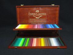 NEW ALBRECHT DURER 120 WATERCOLOR PENCILS IN WOODEN BOX BEAUTIFUL FABER-CASTELL  #FaberCastell (SOLD)