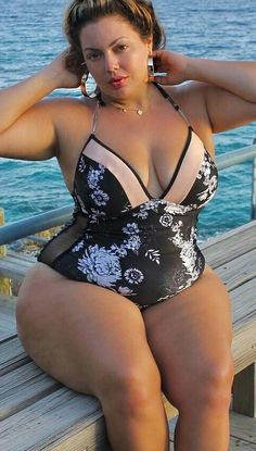 Plus size bathing suit beauty