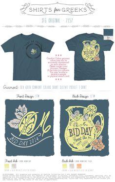 Phi Mu | Bid Day | Sweet Life Tea | Premium | Blended | How Sweet It Is | T-Shirt Ideas | shirtsforgreeks.com