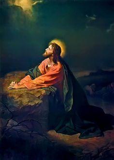 Jesus au Jardin de Gethsémani # Joseph Brickey