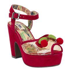 Miss l Fire Calypso Heel | Vintage Inspired Shoe | Red