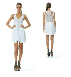 loving white right now and the luxe sporty cut of this dress. #Fashion #Camilla