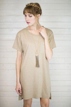 Laid Back T-Shirt Dress #shopmaude www.shopmaude.com