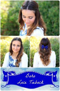 Boho Lace Braid DIY. Love the simple romance to this one. #cutegirlshairstyles #hairstyles #lacebraid #braid #DIY
