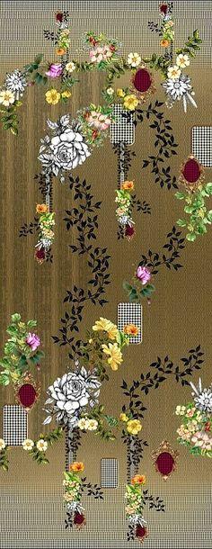 Balcony Plants, Lawn Suits, Estate, Shawls, Digital Image, Flower Art, Sarees, Digital Prints, Decoupage