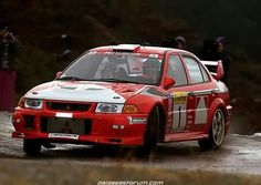 Mitsubishi Evo rally car