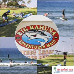 Learning to surf on the south side of Maui is made fun and easy with Big Kahuna Adventures! http://www.tombarefoot.com/info/Learning_to_Surf_with_Big_Kahuna_Adventures.html