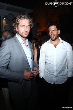 Eli Roth with Gerard Butler at Ischia Global Film Fest