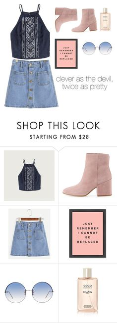 """""""Untitled #37"""" by paola-razo-z ❤ liked on Polyvore featuring Abercrombie & Fitch, Sam Edelman, Linda Farrow and Chanel"""