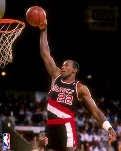 """Clyde """"The Glide"""" Drexler - 15 years with Portland Trail Blazers and Houston Rockets. 10 time all star."""