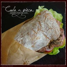 #sandwich of Pain Rustique #bread with #meat, #lettuce and some other #vegetables, french mustard