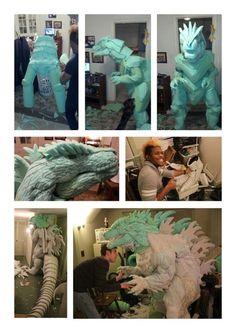 Costume Tutorial, Cosplay Tutorial, Cosplay Diy, Best Cosplay, Cosplay Costumes, Epic Costumes, Puppet Costume, Dino Costume, Dragon Costume