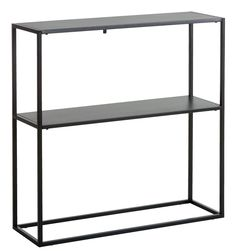Modern style shelf with durable black steel frame that offers stability. Minimalist construction offers both design and versatility. Virum, Furniture, Bookcase, Table, Interior, Shelves, Console Table, White Nightstand, White Nightstand Bedroom