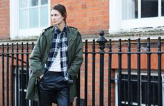 Street Style - plaid & parka - monstylepin #fashion #streetstyle #outfit #style #parka #trend