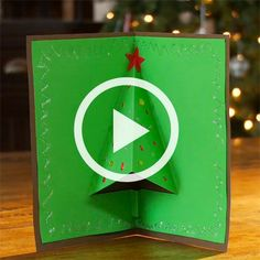 How to Make a Christmas Tree 3-D Card (Christmas Crafts and Recipes)