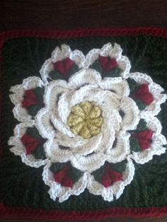 """On Ravelry. """"Pattern no longer available from Herrschners. It may be available from second hand sources."""" Pretty flower for inspiration though. pjc"""