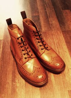 Loake Men's Burford Brogue Boots - Tan http://www.countryattire.com/loake-men-s-burford-brogue-boots-tan.html