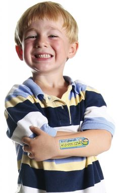 SafetyTats can save your child's life -- child identification