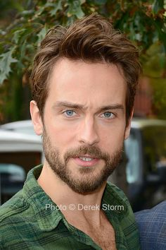 """In the News: Tom Mison and John Noble of """"Sleepy Hollow"""" at Fox's Sleepy Hallow-een Pumpkin Patch Story Inspiration, Character Inspiration, Sleepy Hollow Tv Series, John Noble, Tv Series 2013, Tom Mison, Green Flannel, Short Stories, Toms"""