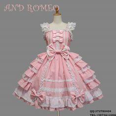 Cute little princess lolita Lolita COSPLAY strap short-sleeved ...