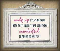 Think happy thoughts Cute Quotes, Great Quotes, Quotes To Live By, Inspirational Quotes, Daily Quotes, Kid Quotes, Motivational Quotes, Everyday Quotes, Framed Quotes