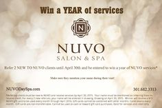 Win a year of NUVO services!!