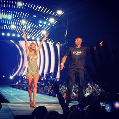 Taylor Swift with Kobe Bryant - 1989 World Tour - Staples Center - Los Angeles, CA. - August 21, 2015 - The screams you hear from an LA crowd when Kobe walks out onstage are so deafening you think you may have permanent hearing loss. But it was SO WORTH IT.