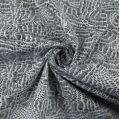 Art Gallery Kushukuru Everlasting Imprint Black/White - Fabric.com