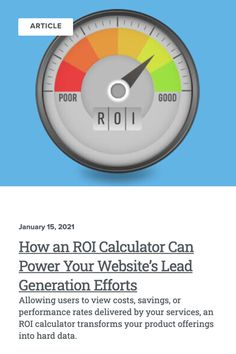 When it comes to faster and more effective lead generation, ROI calculators may be the missing tool in your B2B marketing system. Check out these best practices to increase sales. Digital Marketing | Web Design | Web Development | Business Inspo | Increase Sales, Design Web, Product Offering, Lead Generation, Calculator, Web Development, Effort, Insight, Digital Marketing