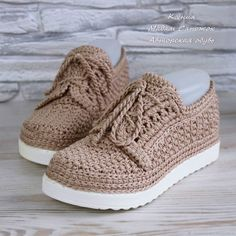 Knit Shoes, Knit Sneakers, Creative Shoes, Custom Shoes, New Work, Baby Shoes, Legs, Shoe Bag, Knitting