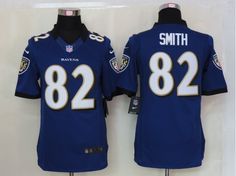 Baltimore Ravens #82 Smith Purple Nike NEW Limited Jersey