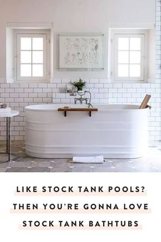 We love stock tank pools, but we love stock tank bathtubs even more. Expect to see these affordable and trendy vessels popping up in bathrooms everywhere. — via @PureWow