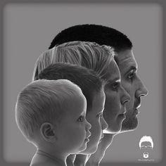 Una gran idea para un retrato de familia. artialia.com