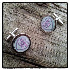#zombie #cufflinks #heart