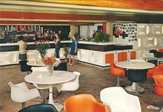 Modern 60s restaurant.