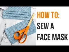 How to Sew a Surgical Face Mask for Hospitals - Free Pattern - Sarah Maker Easy Face Masks, Homemade Face Masks, Diy Face Mask, Von 5 Bis 7, Sewing Patterns Free, Free Pattern, Diy Masque, Morris, The Face